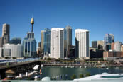 View of Sydney Australia with blue sky